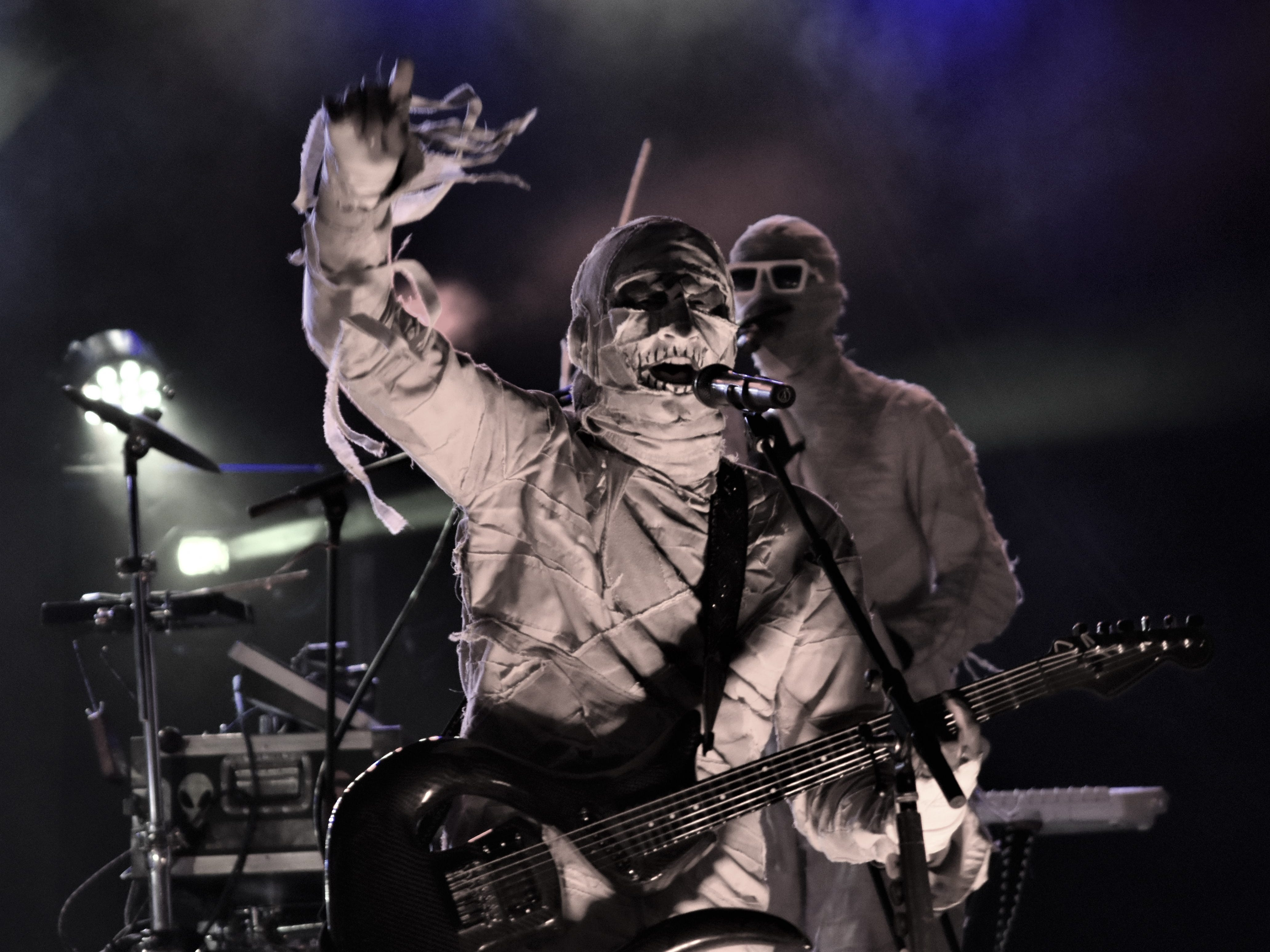 Mummy-themed funk act Here Come the Mummies performed Saturday, Feb. 16, at the 10th annual Funk Fest in Punta Gorda.