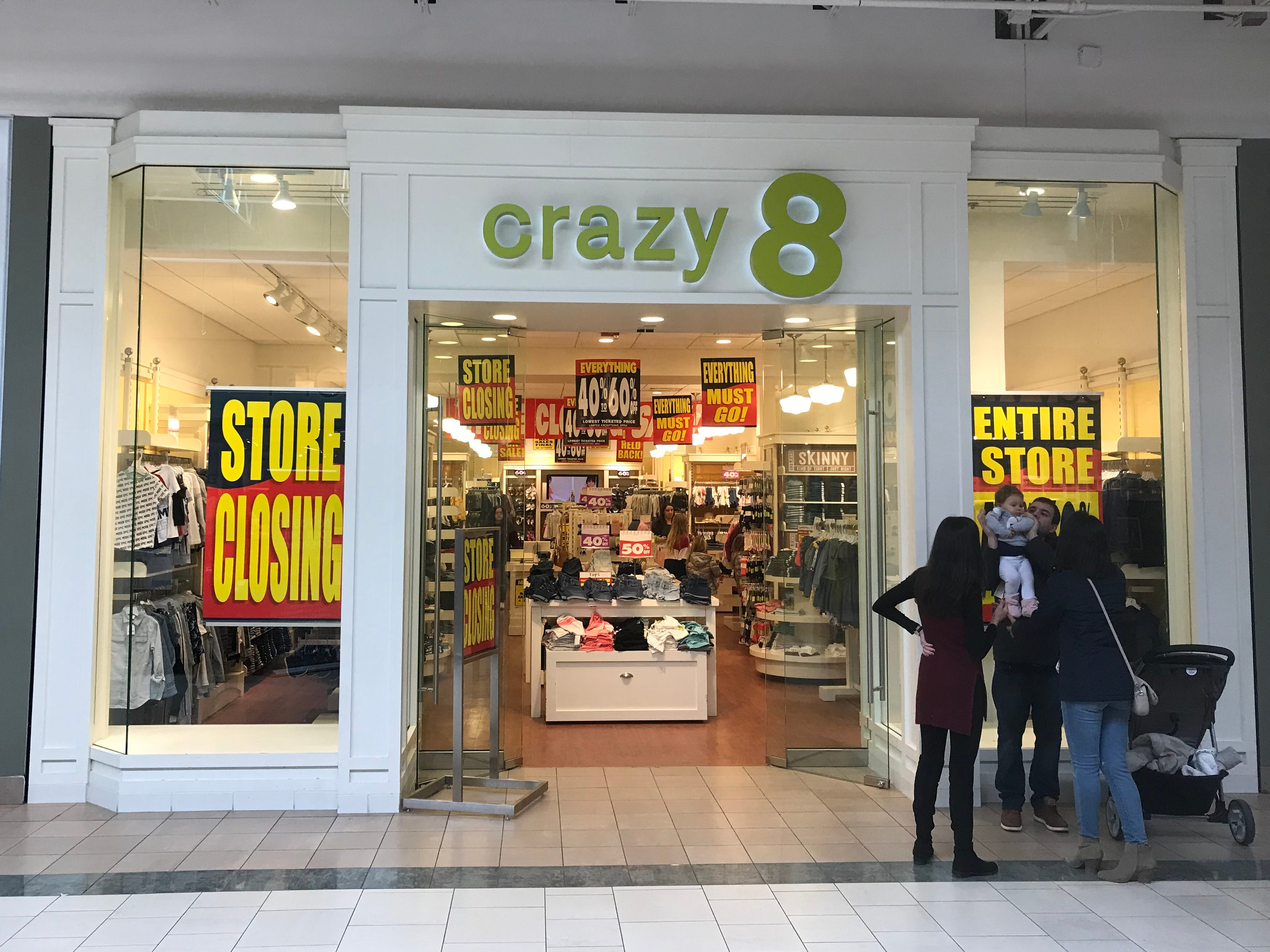 The Crazy 8 store in Bay Park Square will close due to the bankruptcy of its parent company Gymboree Group.