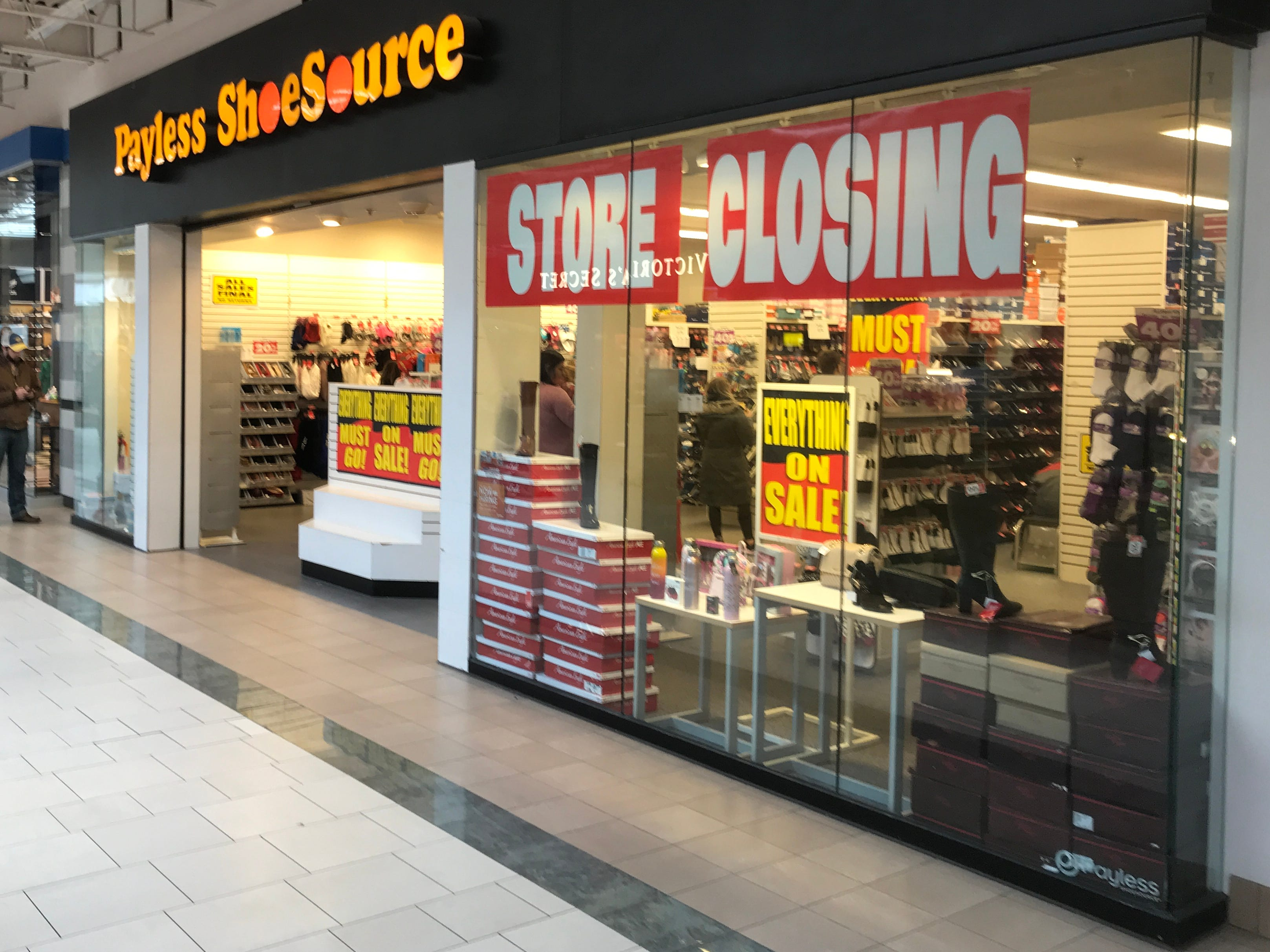 Payless ShoeSource  announced Feb. 15 that it would liquidate its inventory and close all of its 2,100 stores. The stores are expected to stay open at least through March.