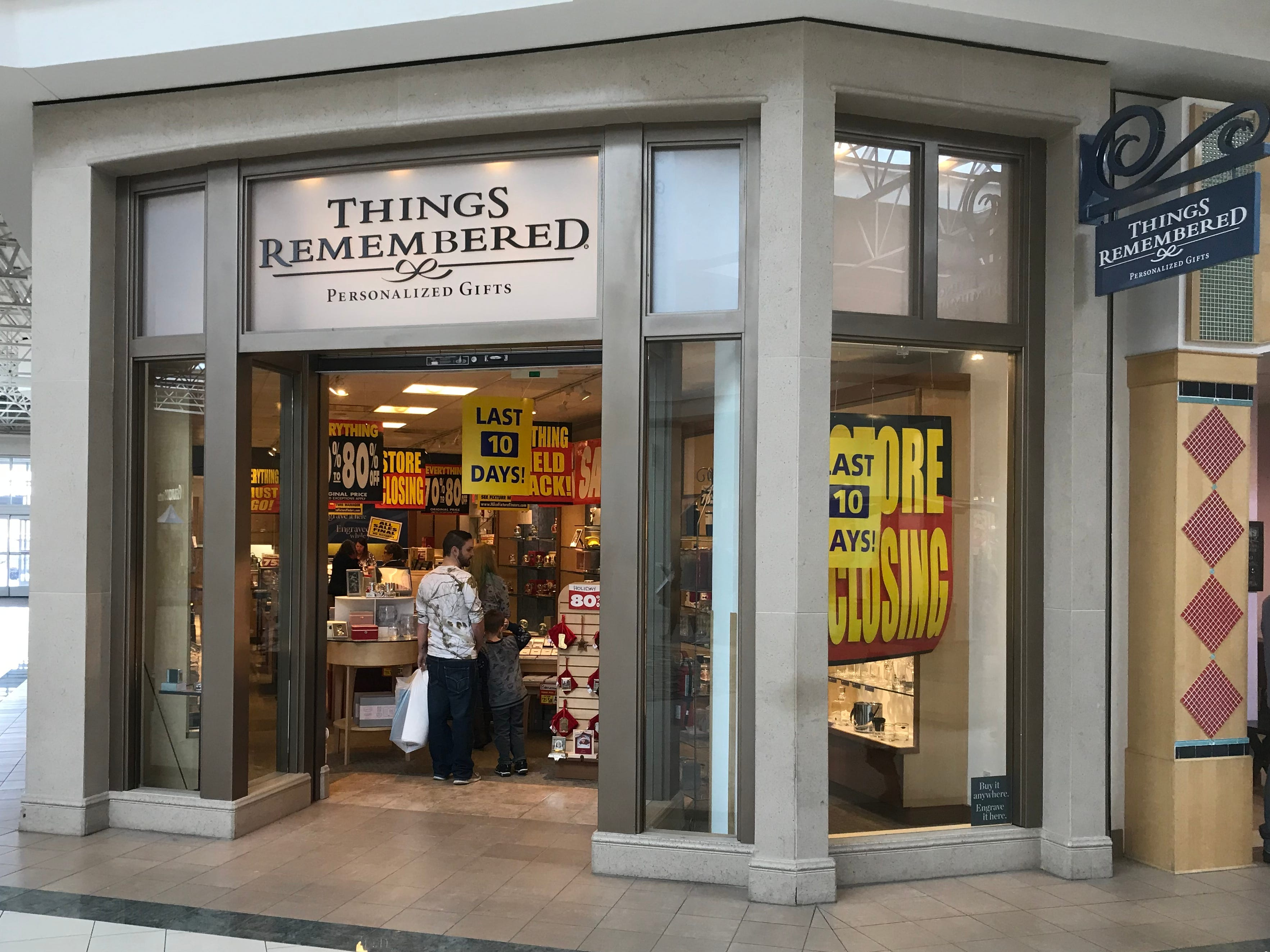 The Things Remembered store in Bay Park Square will close in February. The company filed for bankruptcy Feb. 5 and was sold the following day to Enesco LLC, which will keep some, but not all, stores open.
