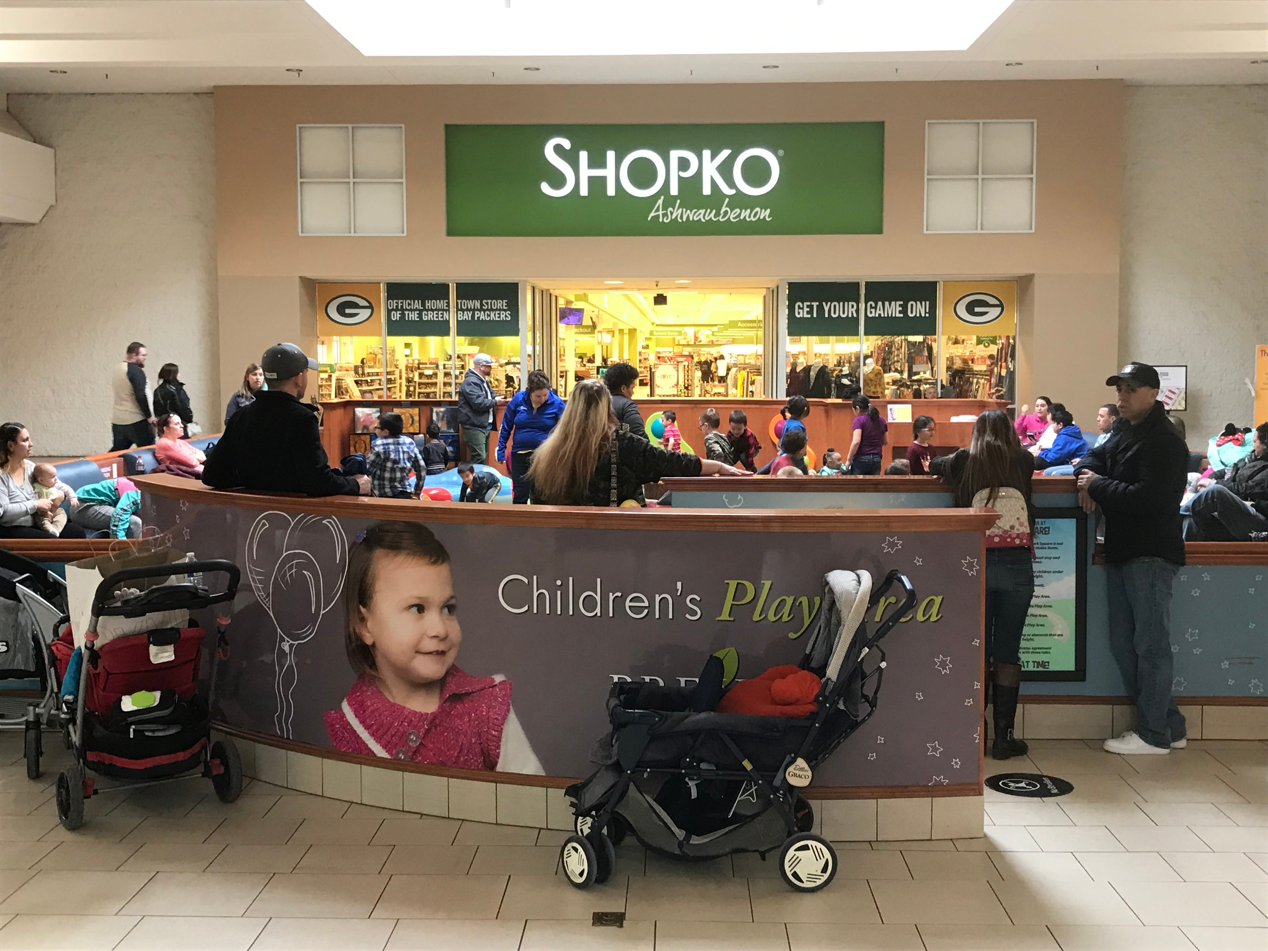 The interior entrance to the Shopko store in Bay Park Square in Ashwaubenon. The store is not among those that will close as the company seeks to emerge from bankruptcy.