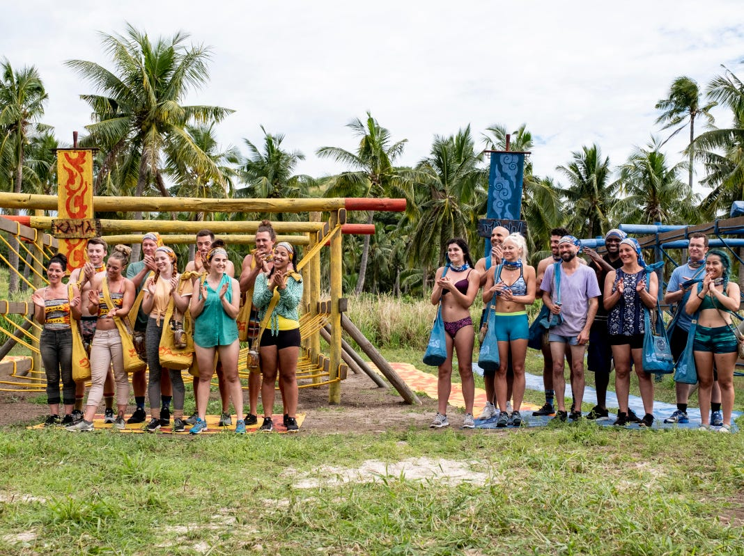 "The Kama and Mana tribes prepare to compete on ""Survivor: Edge of Extinction."" Greenville resident Chris Underwood is a member of Mana tribe, right."