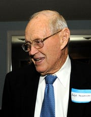 Ralph Hendricks, shown here in 2013, died Sunday at age 101.