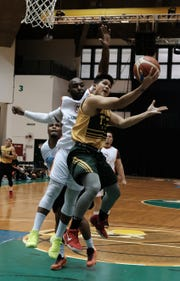 The University of Guam upset MacTech 89-84 in the semifinals of the Triton Men's Basketball League Sunday at the UOG Calvo Field House.