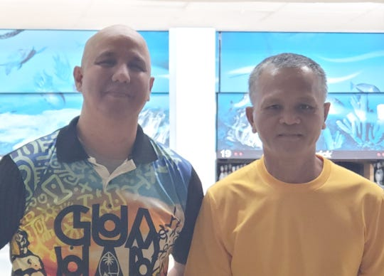 February King of the Lanes Ricky Duenas, left, and Prince of the Lanes Lito Teodoro.