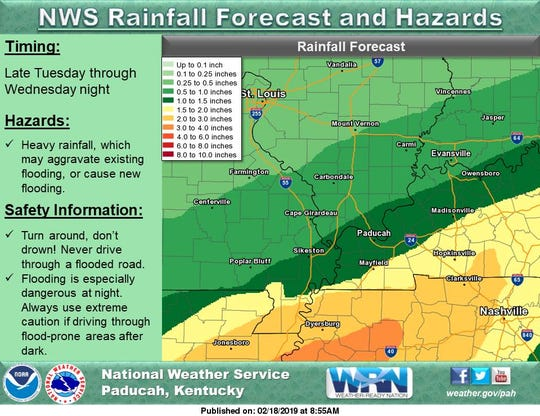 More rainfall is on the way, according to the NWS
