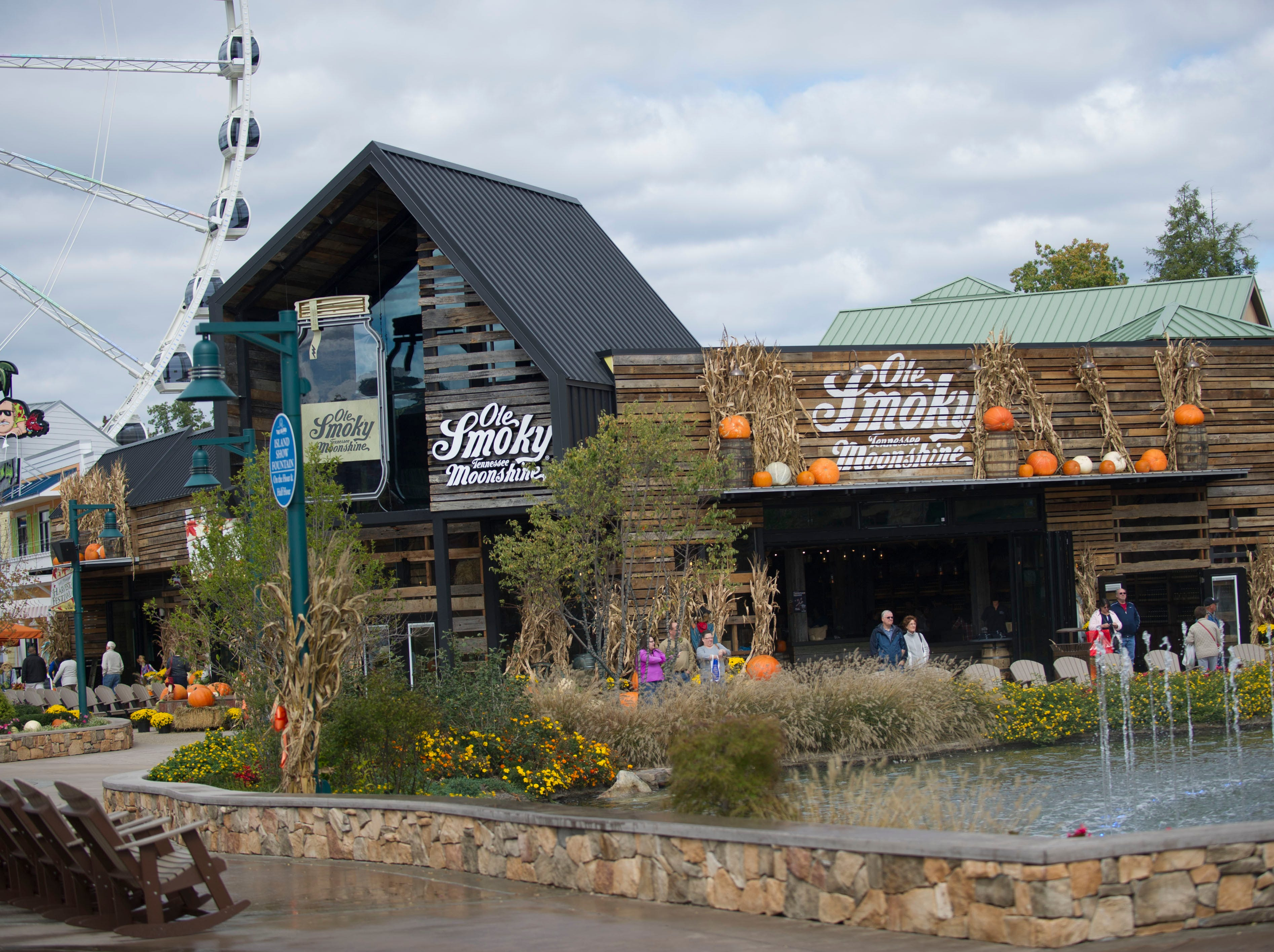 The Ole Smoky Tennessee Moonshine distillery and store is pictured Wednesday, Oct. 22, 2014, in Pigeon Forge. The non-aged whiskey maker just opened a new location at the Island in Pigeon Forge to complement its original distillery in Gatlinburg.