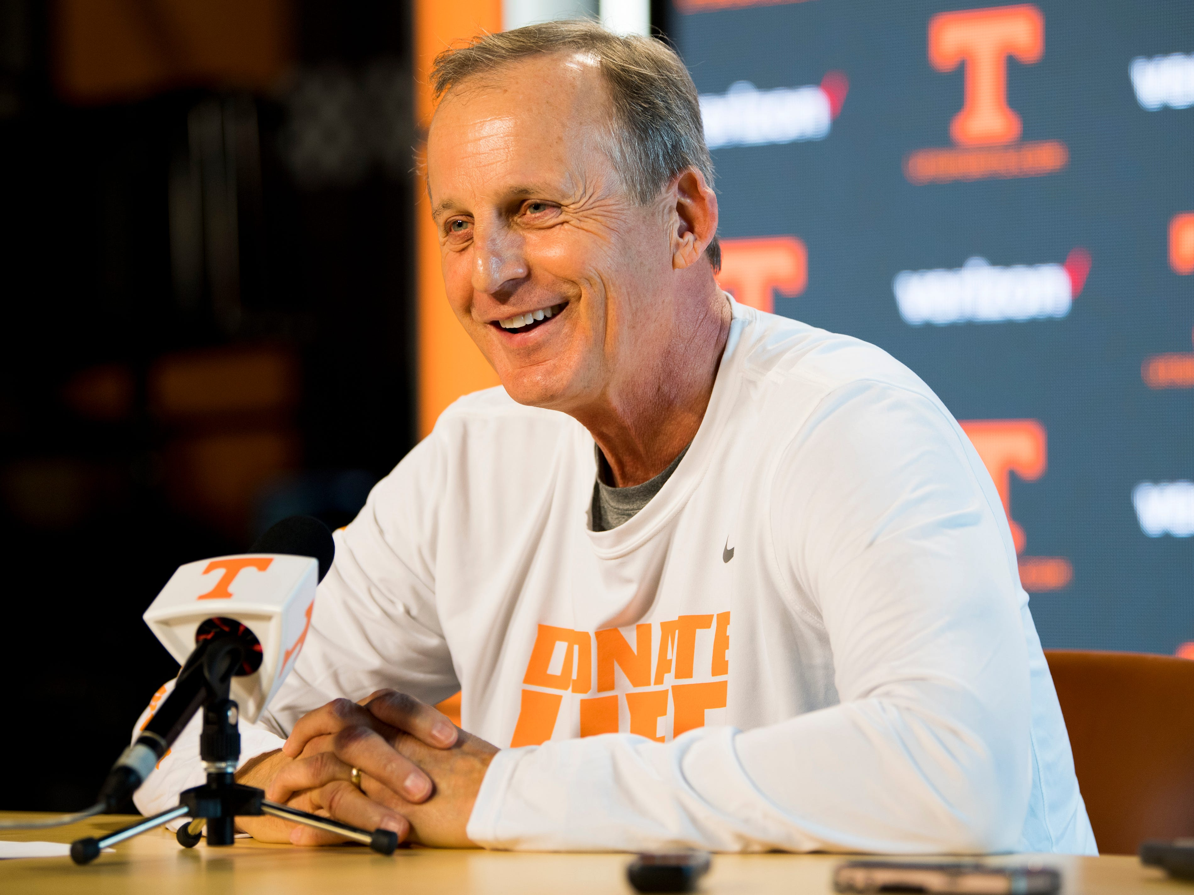 Tennessee Head Coach Rick Barnes speaks to the media during a press conference on Monday, February 18, 2019.