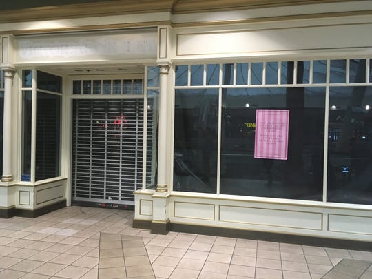 The now shuttered Victoria's Secret location in Knoxville Center Mall.  The two-storefront retailer was one of few remaining national brands left in the mall in East Knoxville.