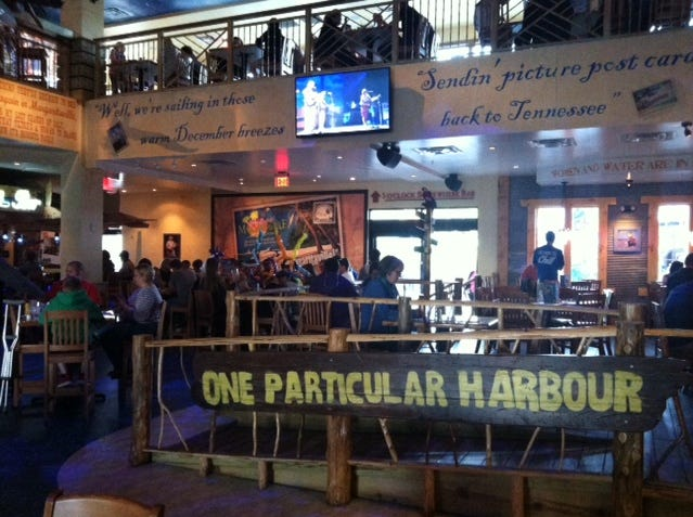 Jimmy Buffett's Margaritaville at the Island in Pigeon Forge.