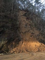 State Road 73 was temporarily closed on Monday morning after a rock slide occurred near Townsend, Tennessee.