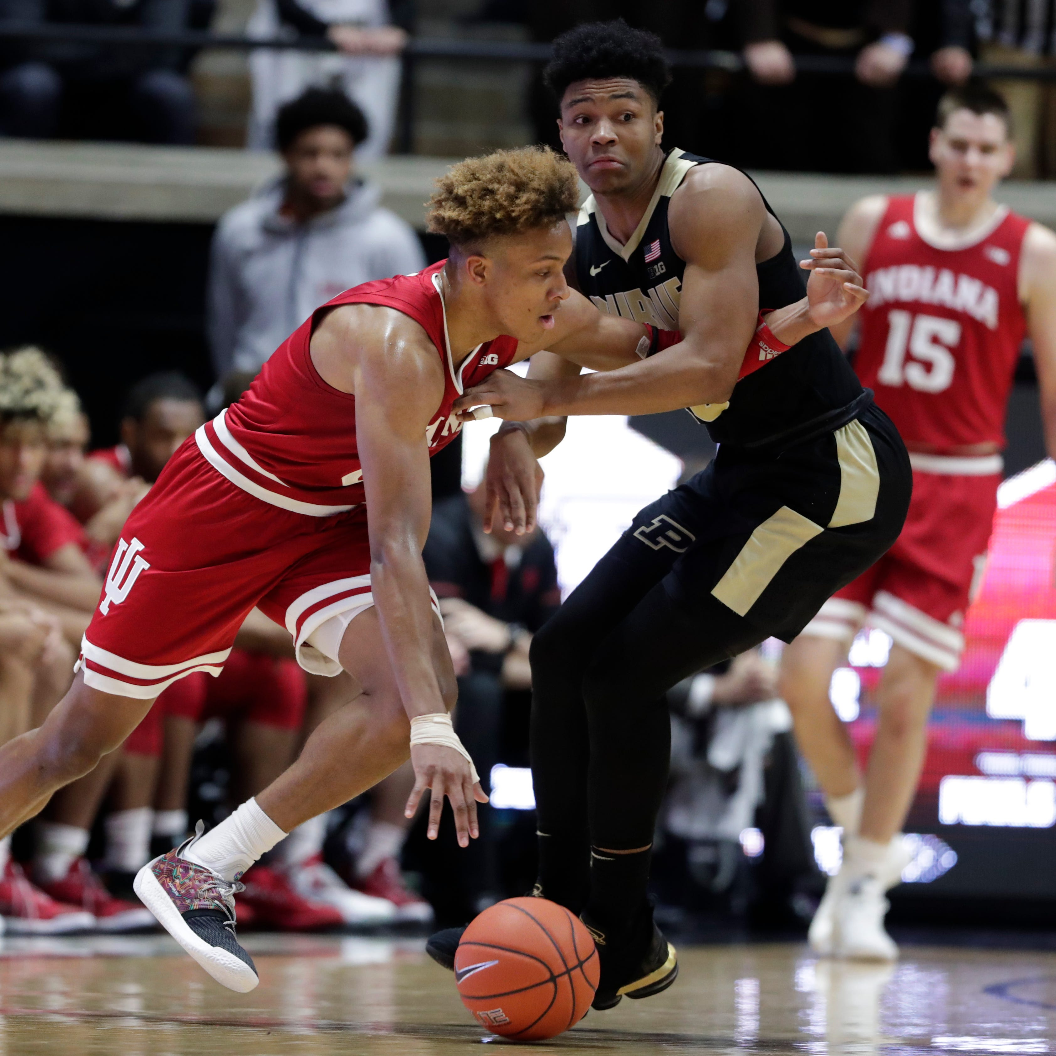 Romeo Langford leaves Purdue, Indiana basketball vomiting in a trash can