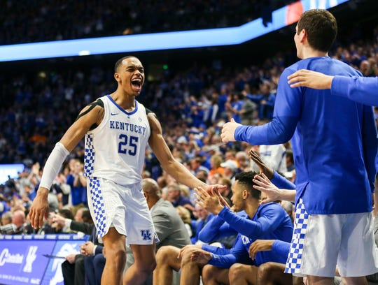 Kentucky's PJ Washington Jr during the game against No.1-ranked Tennessee Feb. 16, 2019