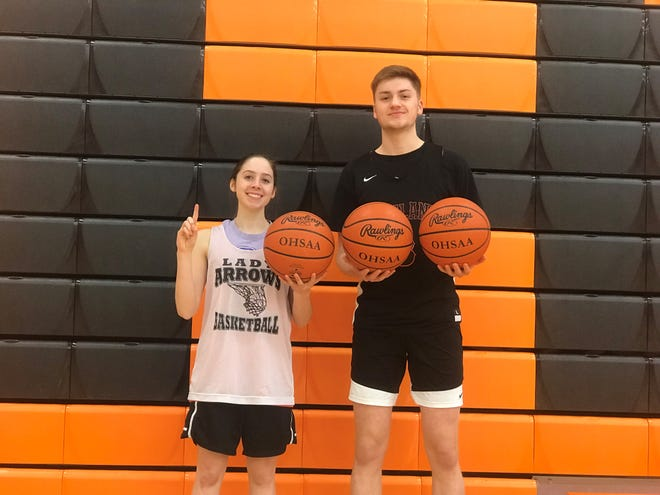 The Ashland duo of Alyssa Steury and Garrett Denbow scored their 1,000th-career point four days apart.