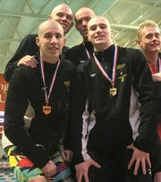 The Lexington quartet of Wilson Cannon, Cayman Eichler, Justice Holmes and Connor Miller is seeded No. 1 in the 200 medley relay and No. 2 in the 400 freestyle relay for the Division II state meet this week in Canton. Cannon is also seeded No. 2 in the 200 free.