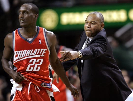 After playing for Memphis from 2001 to 2003, current Fox Sports Southeast Grizzlies television analyst Brevin Knight played for Grizzlies coach J.B. Bickerstaff's father, Bernie, in Charlotte on one of his many stops.
