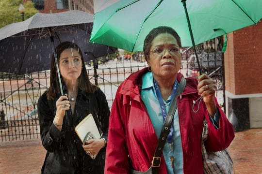 "Rose Byrne is author Rebecca Skloot and Opray Winfrey is Deborah Lacks in ""The Immortal Life of Henrietta Lacks,"" which screens at 2 p.m. Tuesday at the Central Library."