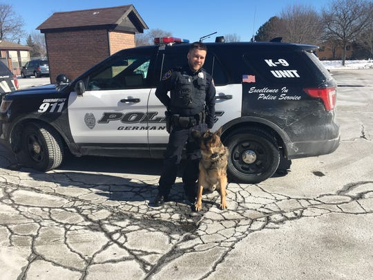 Germantown Police Officer Darren von Bereghy has been working with K9 Hatto for two years and is excited for the department to be planning a second K9 purchase.