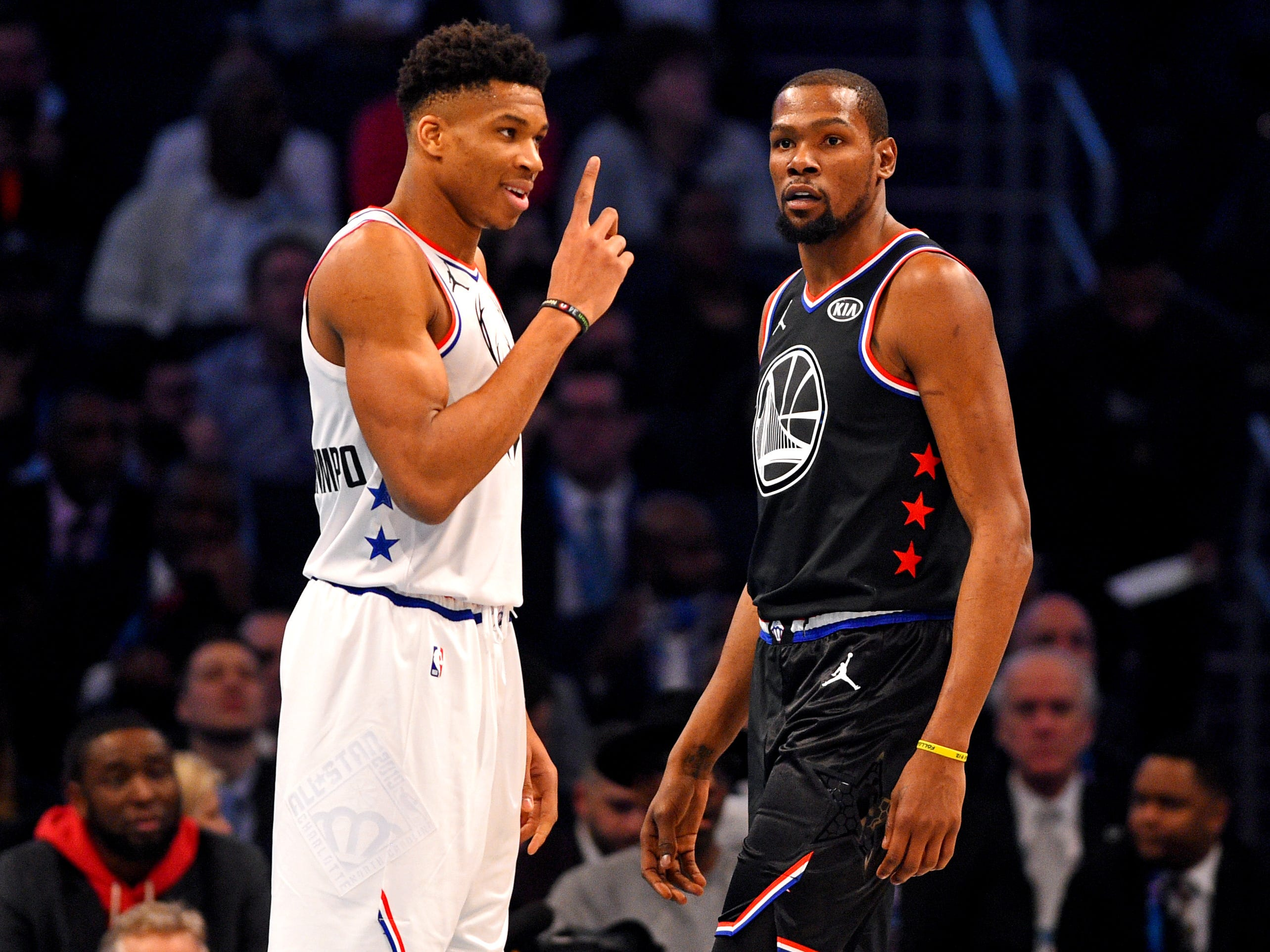 Giannis Antetokounmpo has a word NBA All-Star Game MVP Kevin Durant.