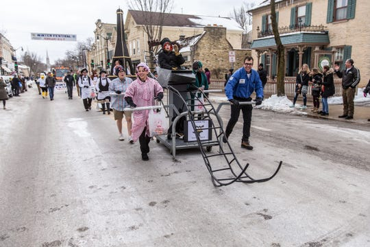 Bed racers are part of the experience at Cedarburg's Winter Festival this weekend.