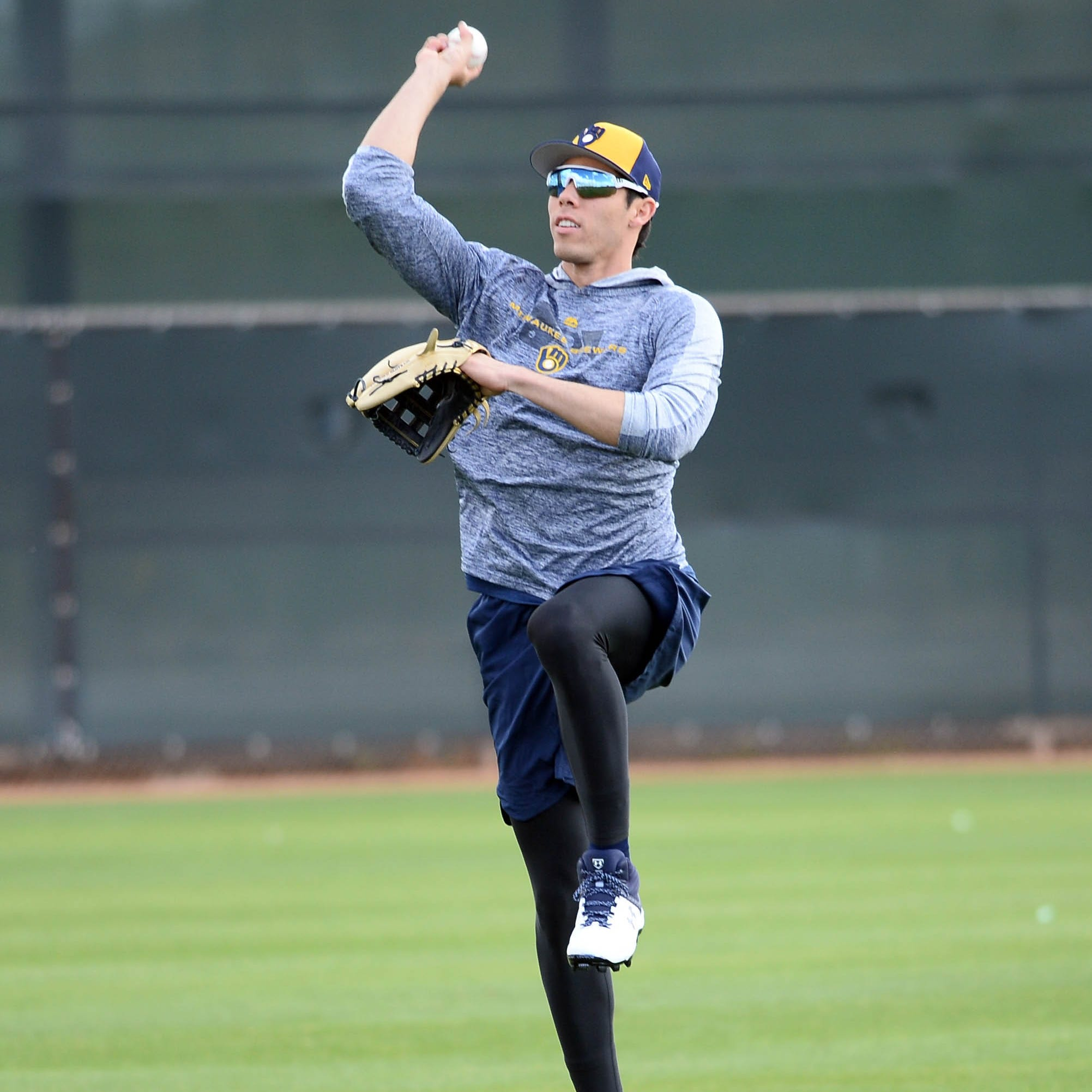 Camp report: Christian Yelich adds acting to his résumé during his busy offseason