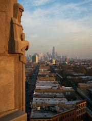 The Robey offers views of Chicago's skyline to the southeast.