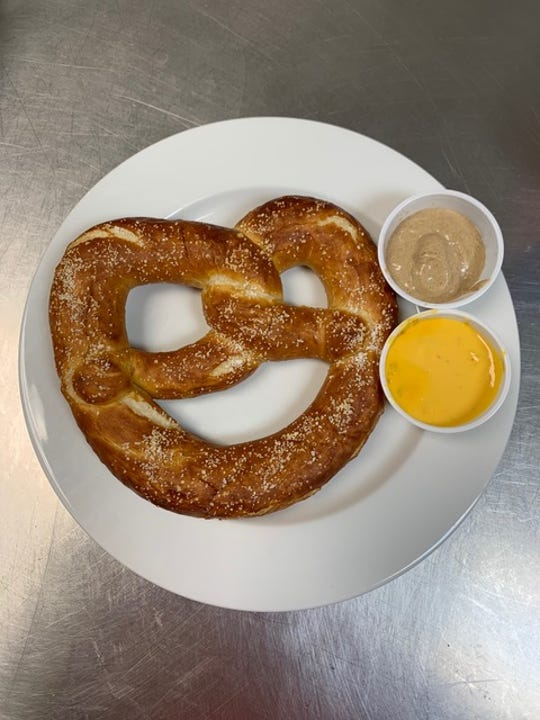 Brewfinity is no longer a brewpub and does not emphasize food, but there are still a few options to snack on, including soft pretzels served with cheese sauce or Dusseldorf mustard.
