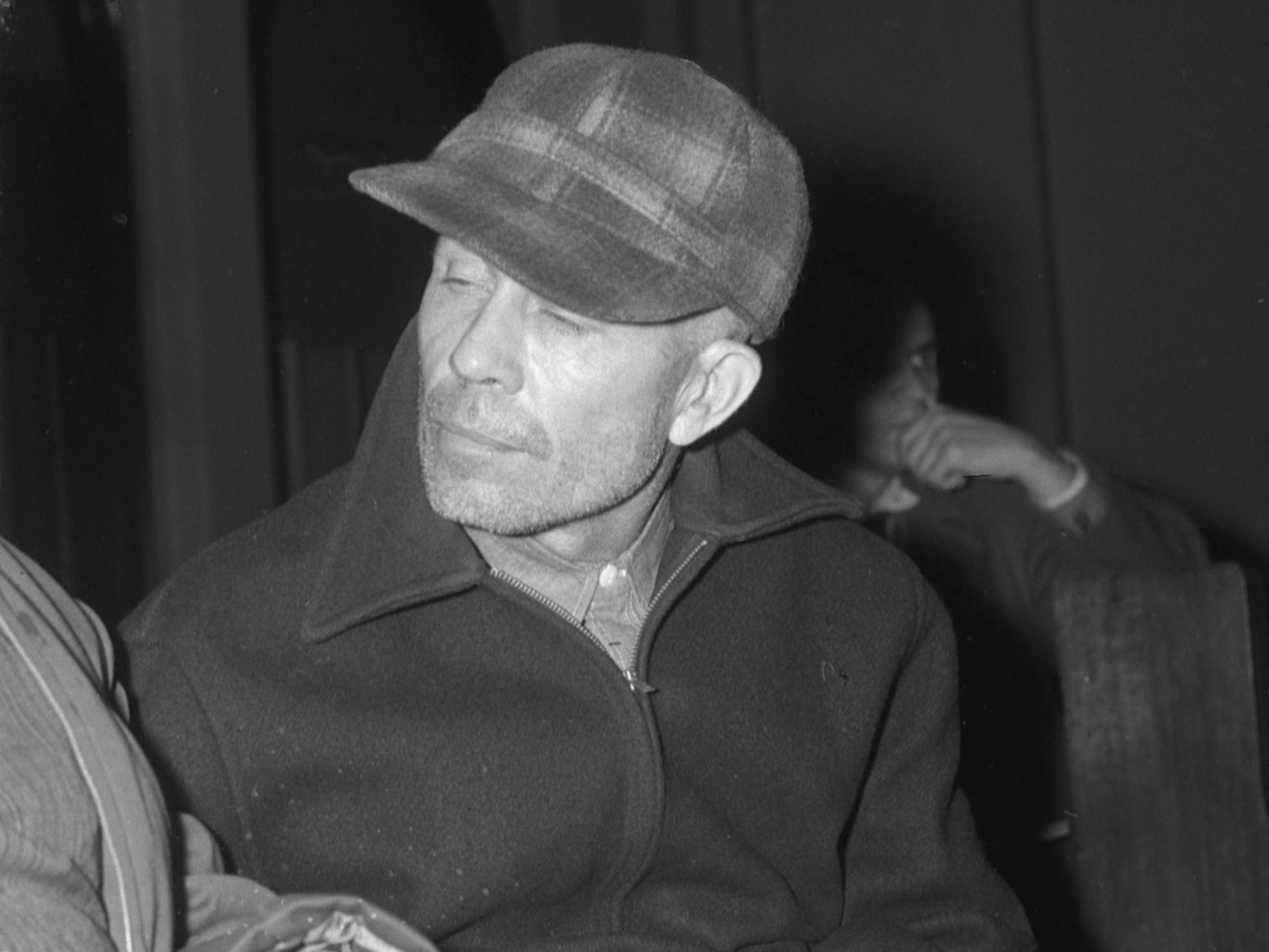 Ed Gein at the Waushara county Jail at Wautoma in 1957.
