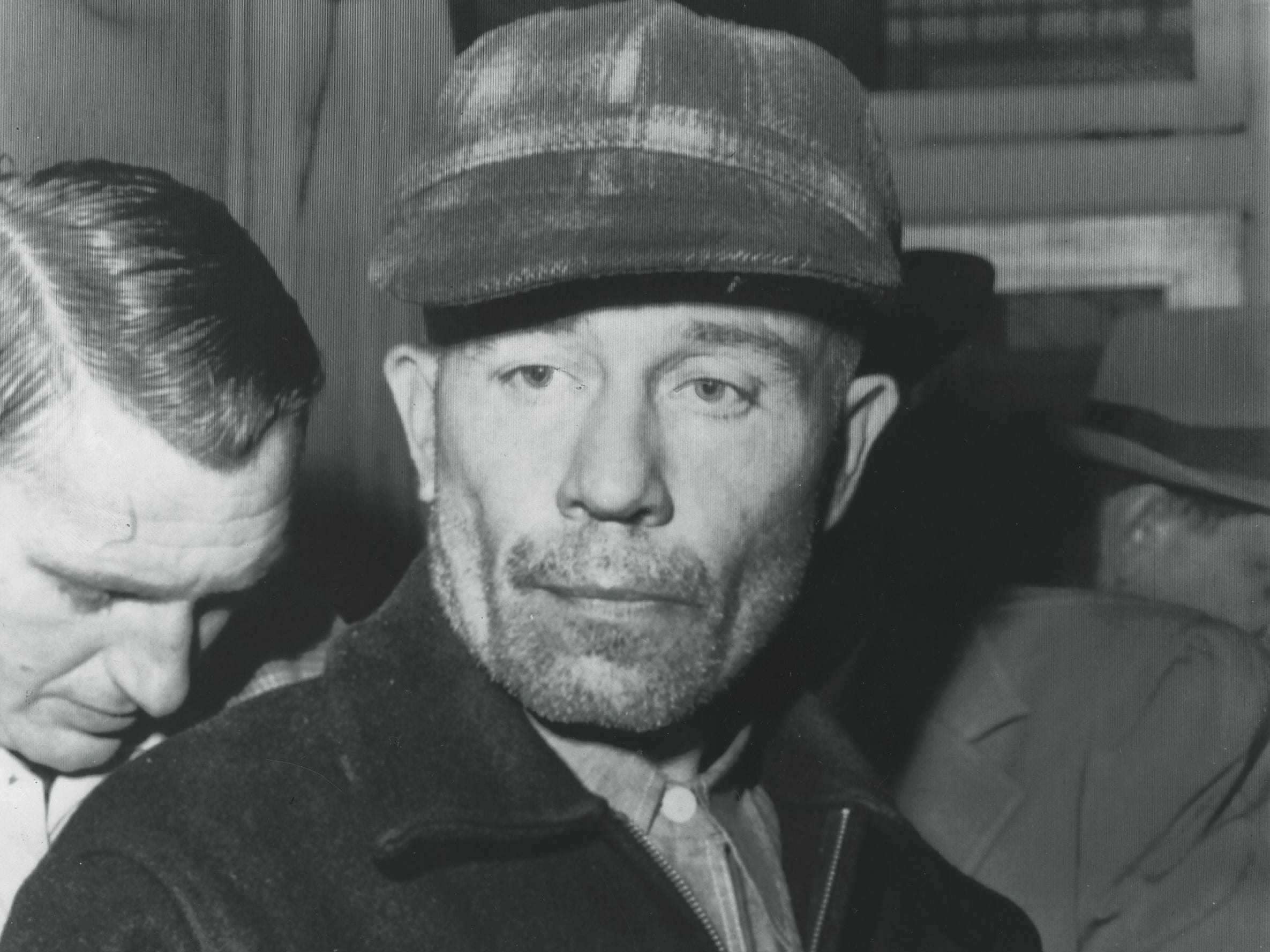 Ed Gein following his arrest in 1957.