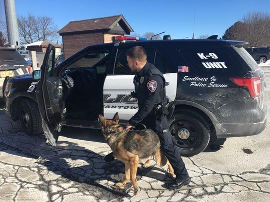 Germantown Police Officer Darren von Bereghy and K9 Hatto work together to serve the village of Germantown.