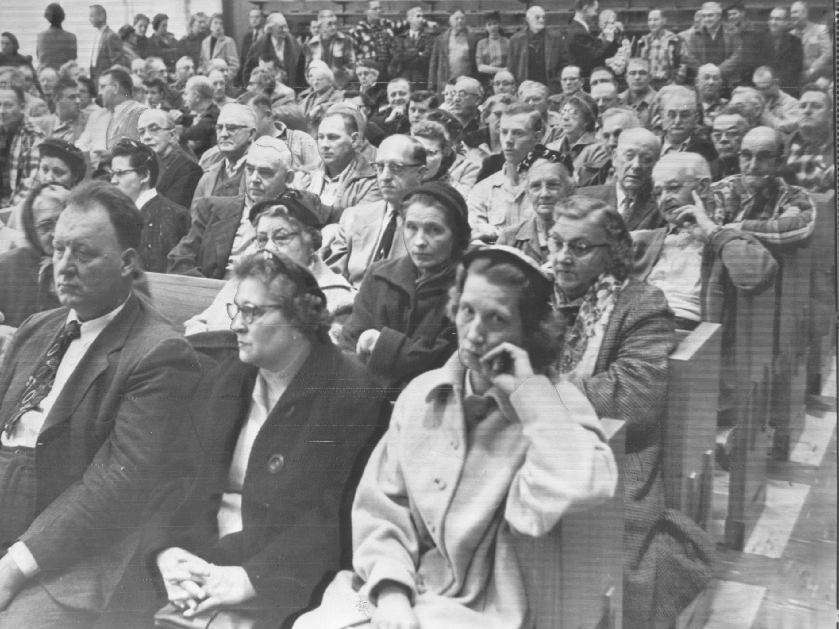 The courtroom was packed for one of Ed Gein's appearances.