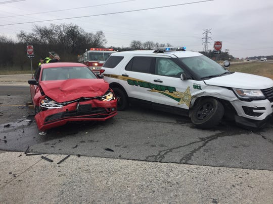 Oshae Stewart, who was fleeing from Sumner County Sheriff's deputies, crashed into one of the cruisers on Feb. 15, 2019.