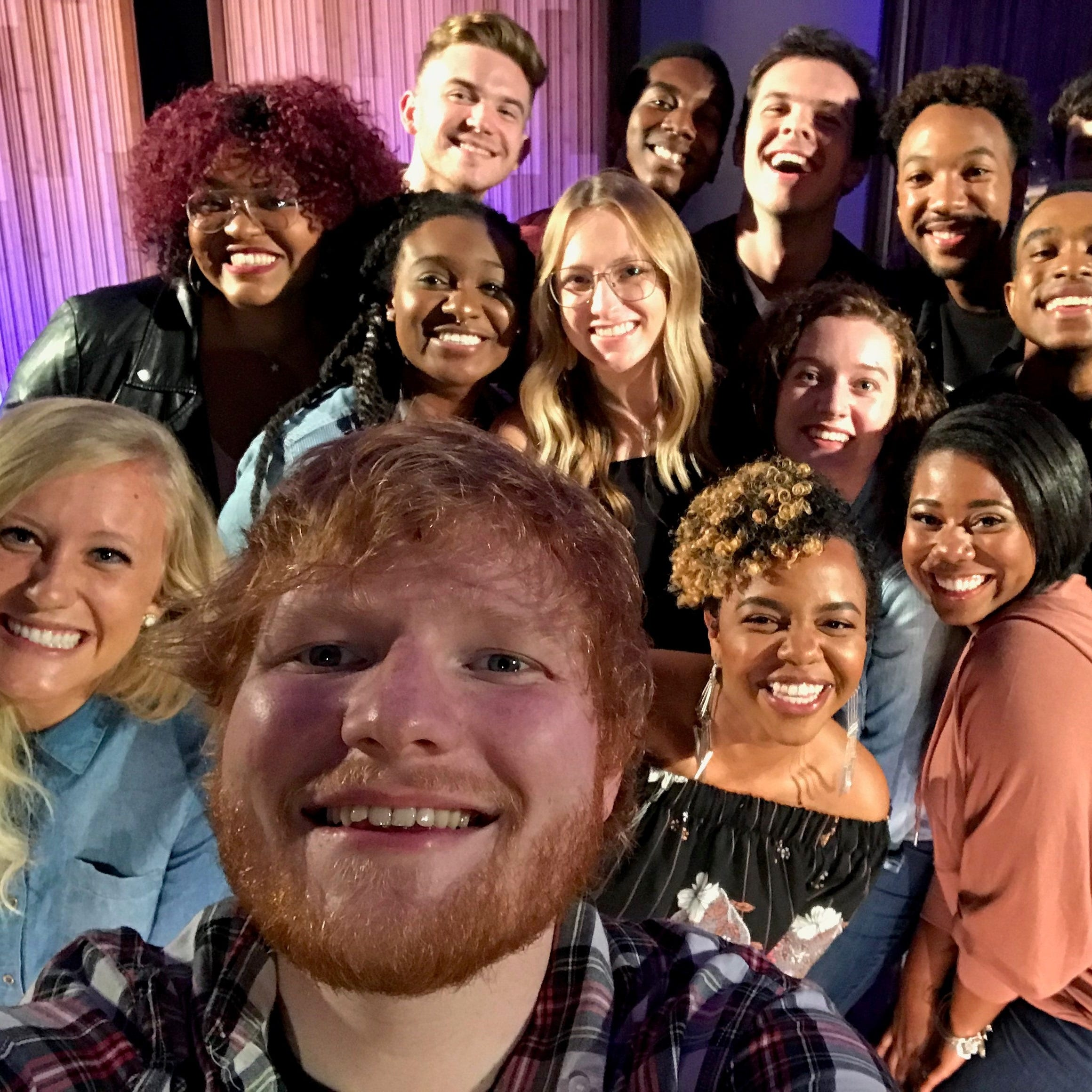 Watch Ed Sheeran sing with Belmont students on Elvis TV tribute
