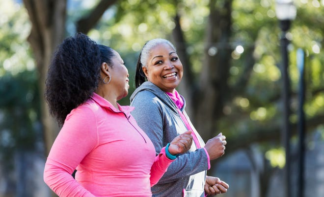 The American Heart Association recommends 30 to 60 minutes of sustained aerobic activity at least 5 days a week, and more is even better.