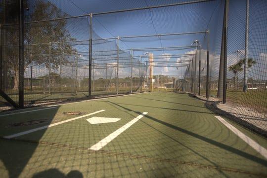 The batting cages at the Bonita Springs baseball fields.