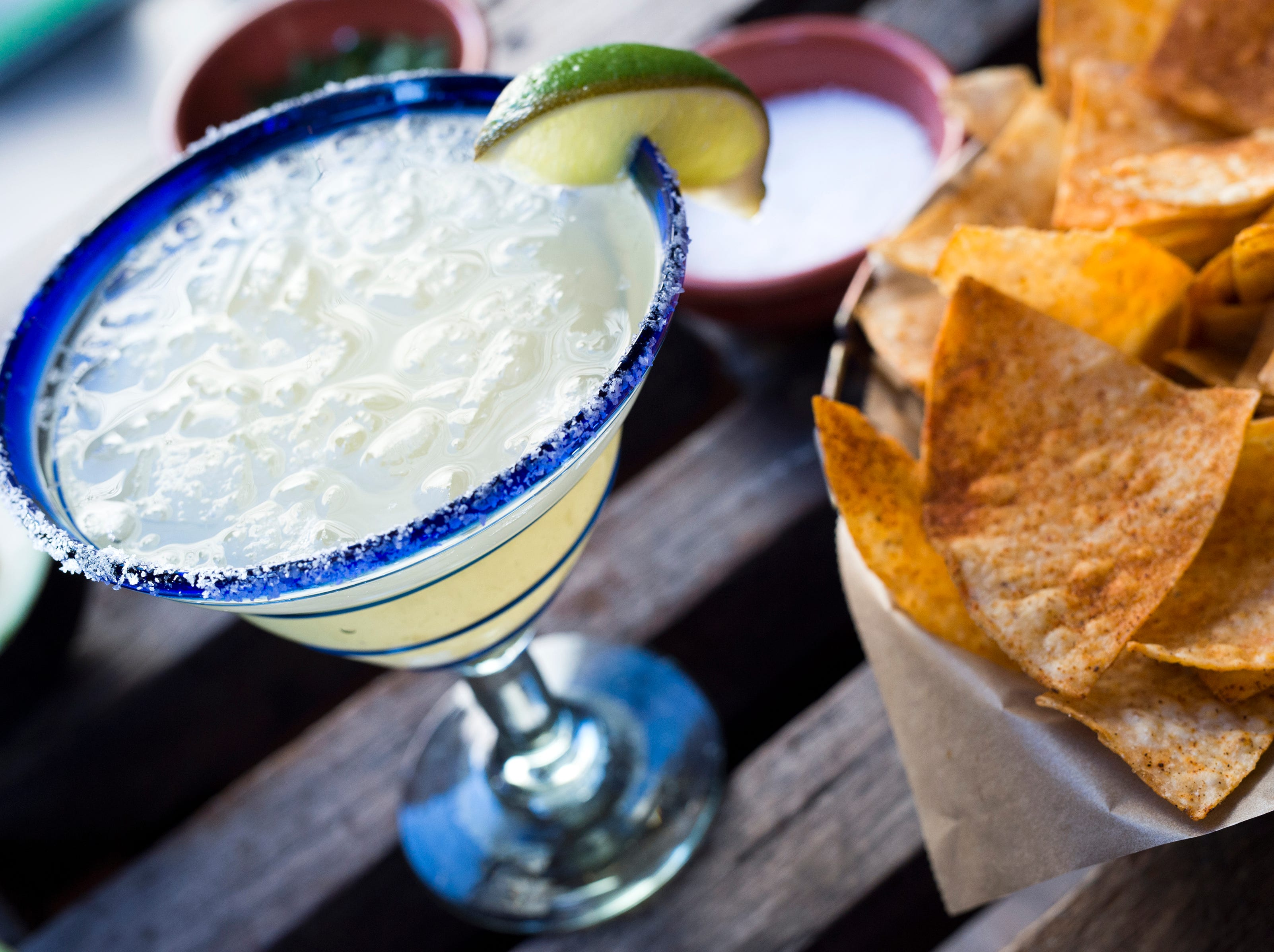 Rocco's Tacos & Tequila Bar features traditional Margaritas as well as at least 10 other flavors from blood orange to watermelon.