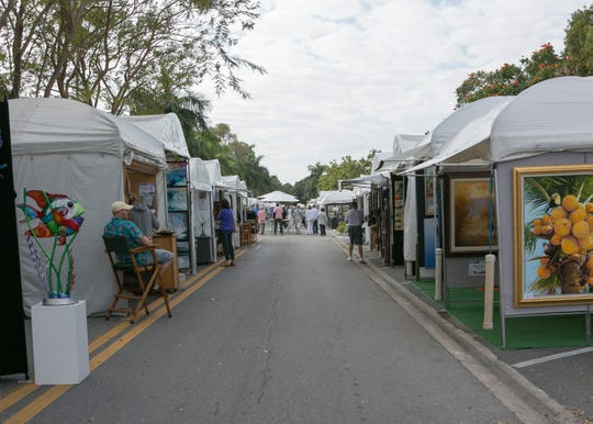 The 40th annual Naples National Art Show returns to Cambier Park from 10 a.m.-5 p.m. Saturday and Sunday.