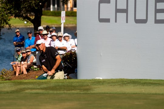 Spectators watch on the 18th hole during the final round of the Chubb Classic in The Classics at Lely Resort on Sunday, Feb. 17, 2019.