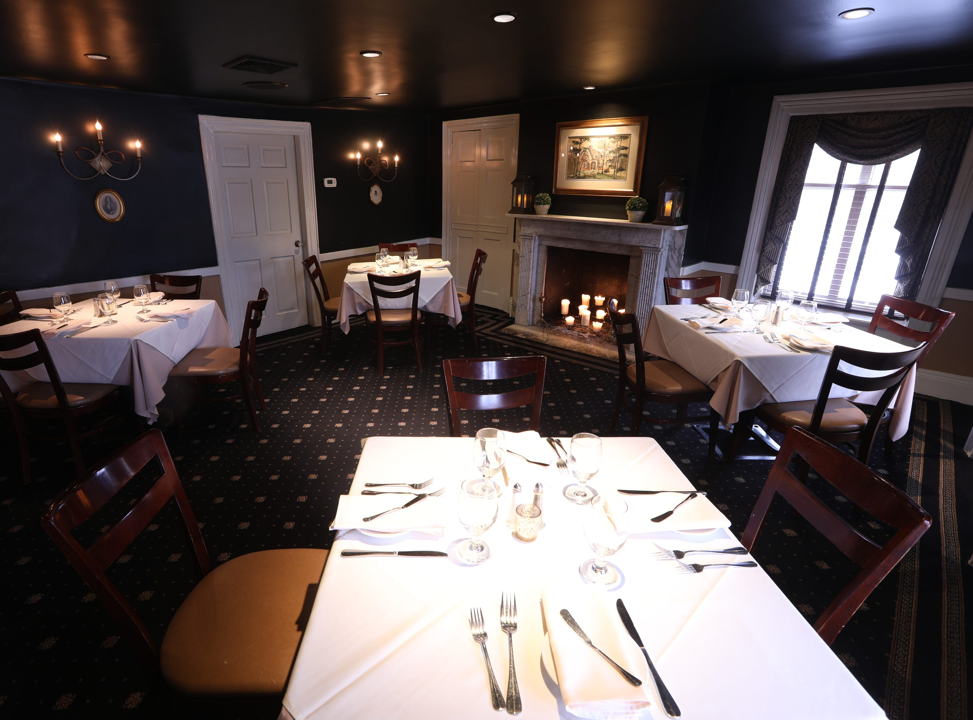The Hermitage Room is shown at the Ho-Ho-Kus Inn & Tavern.  The structure is believed to have been built in the 1790's. Monday, February 18, 2019