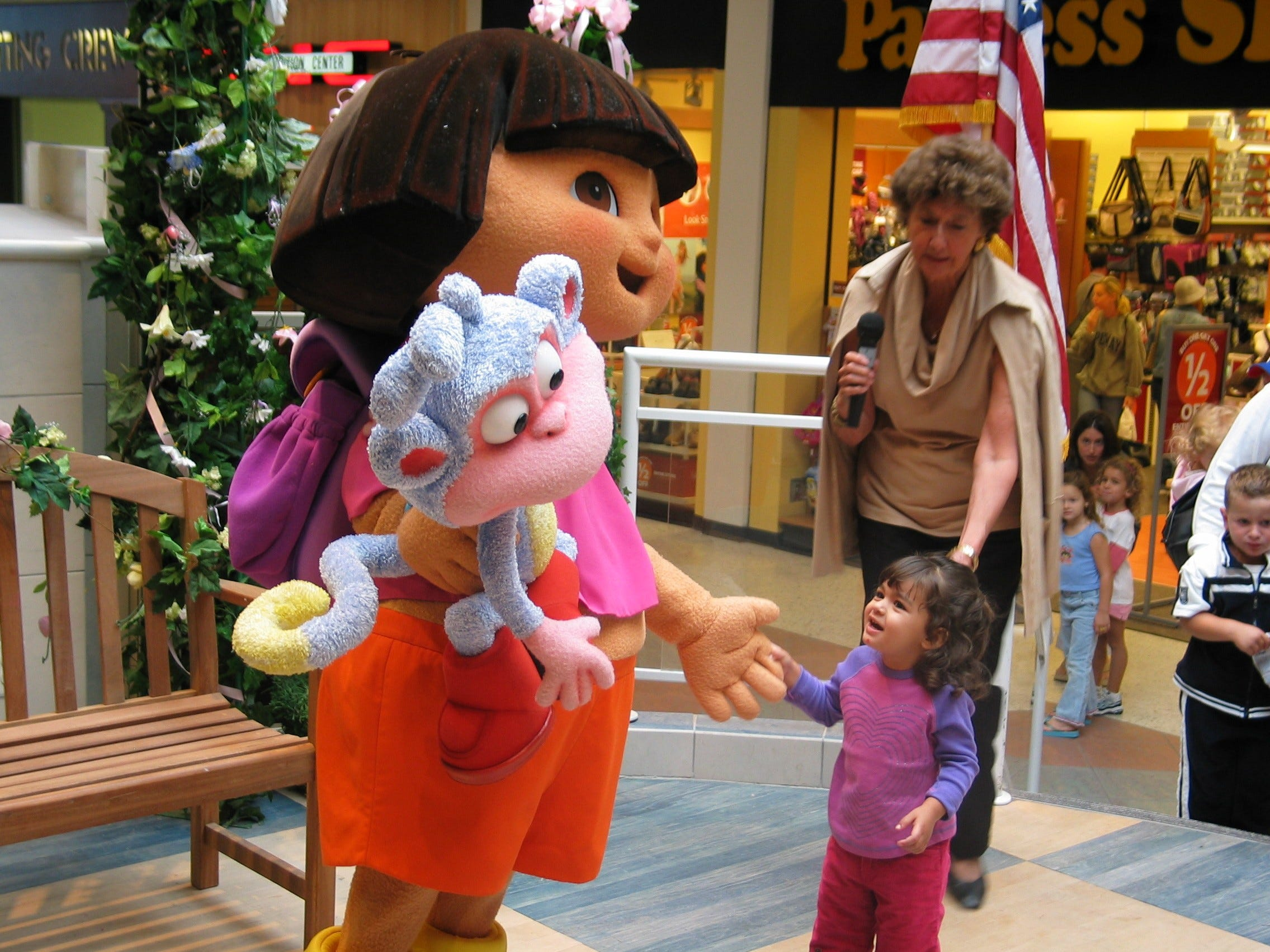 The larger than life star of the hit television show Dora the 'Explorer' stopped by the Wayne Hills Mall to meet her fans.