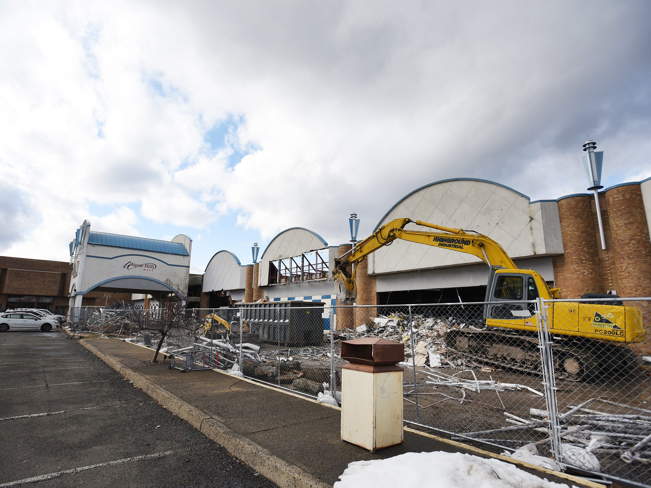 Wayne Hills Mall is being demolished, photographed   in Wayne on 02/18/19.