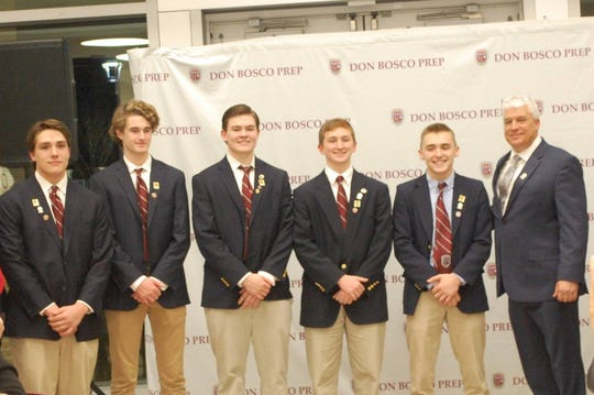 """Don Bosco Prep High School holds its own """"Shark Tank"""" competition. Winning teams earned collegiate scholarships."""