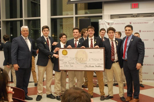 "Don Bosco Prep High School holds its own ""Shark Tank"" competition. Winning teams earned collegiate scholarships."