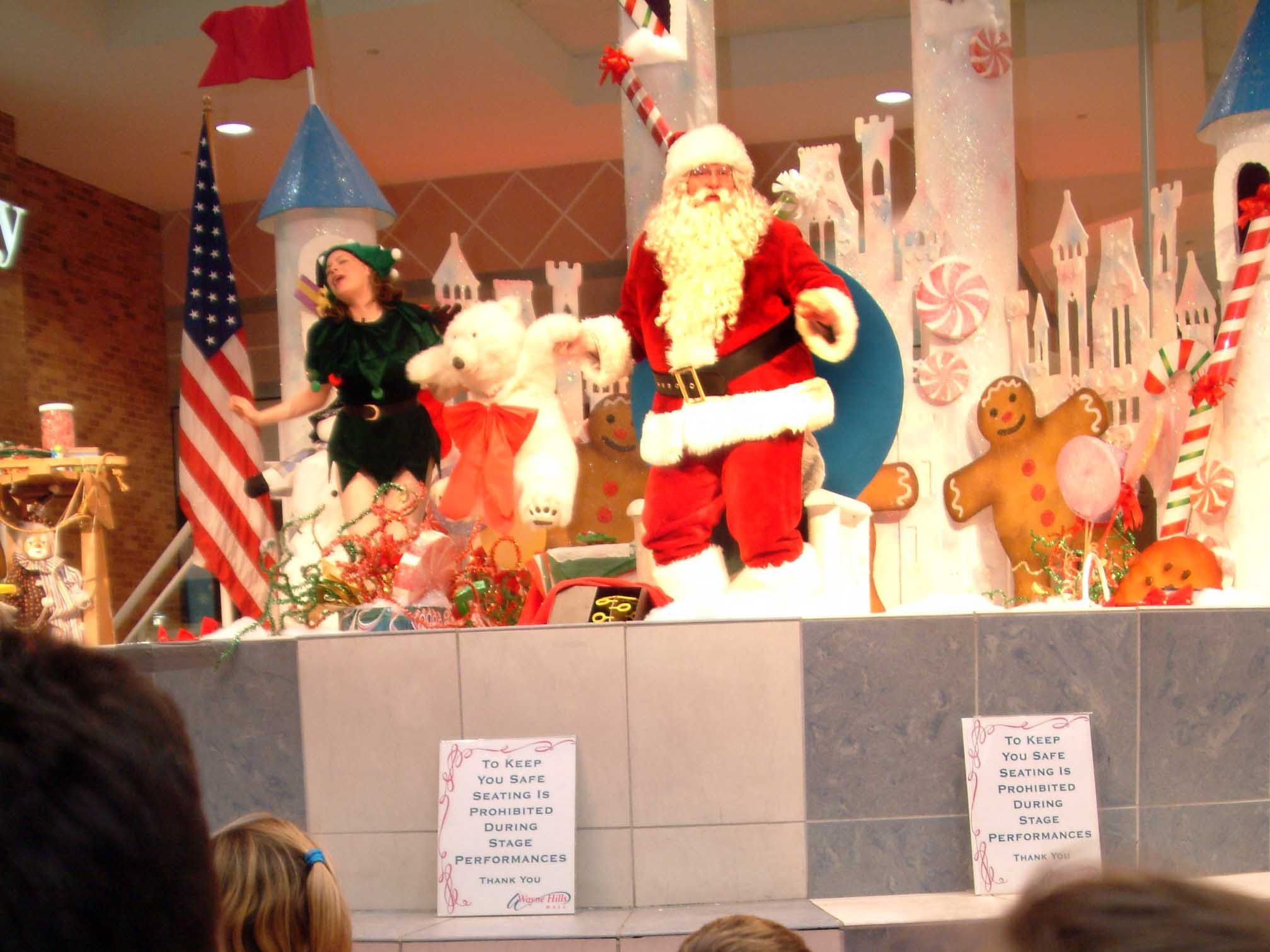 Santa at Wayne Hills Mall, Dec. 9, 2003.
