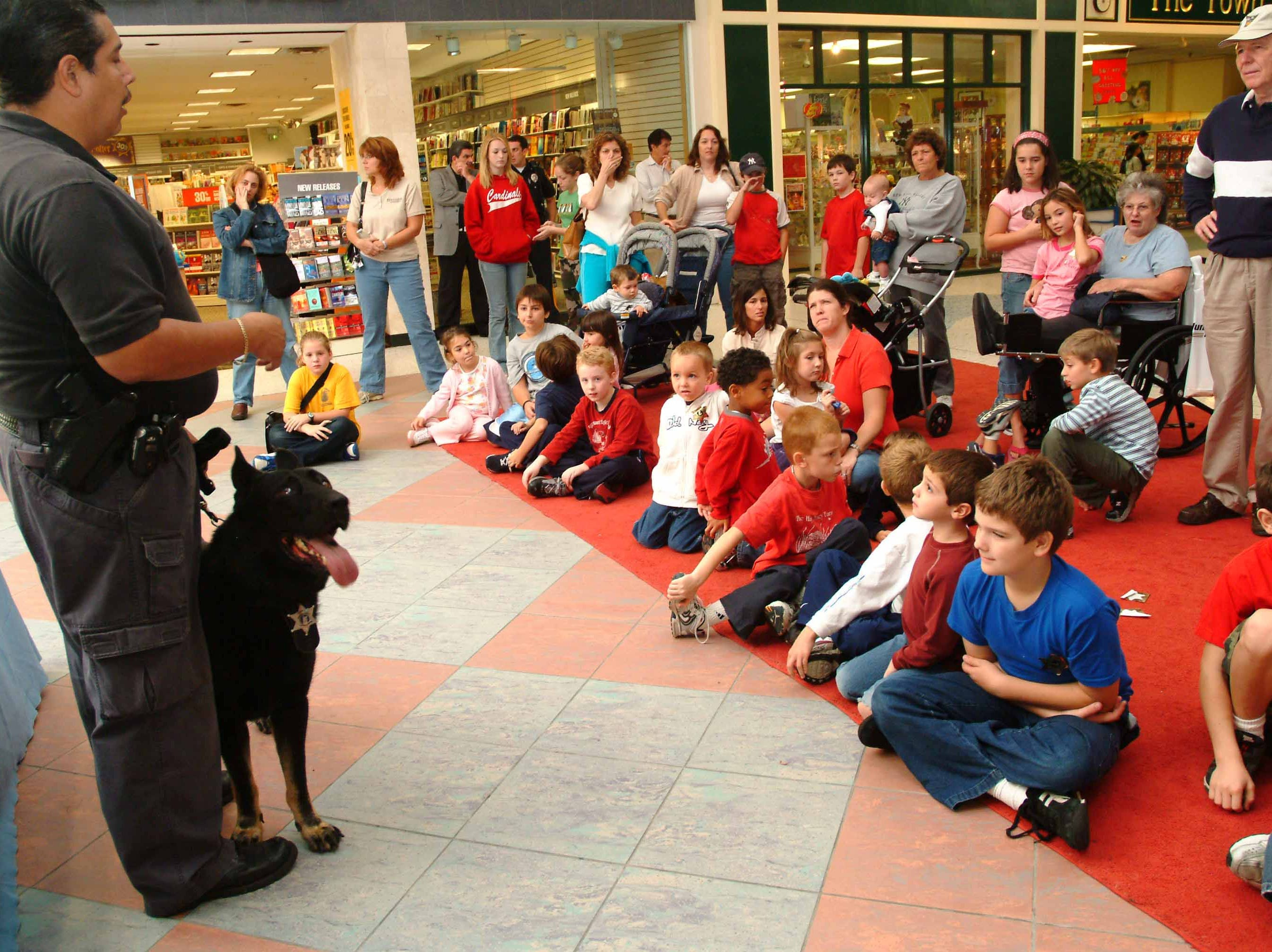 Passaic County Sheriff's Department K-9 demonstration held at Wayne Hills Mall before the stores began to shut their doors.