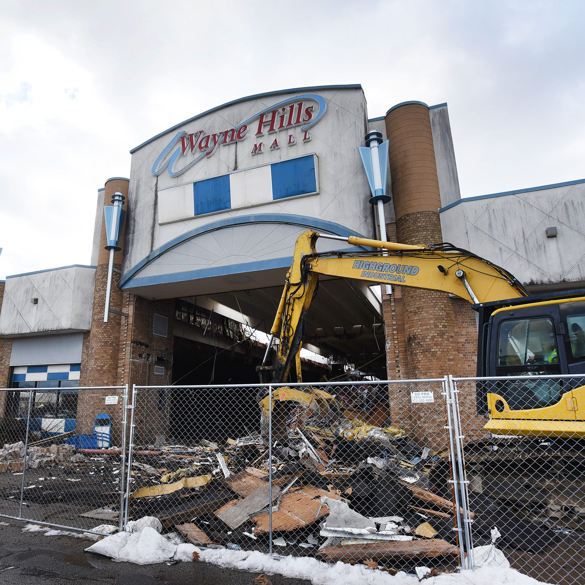 Wayne Hills Mall demolition underway