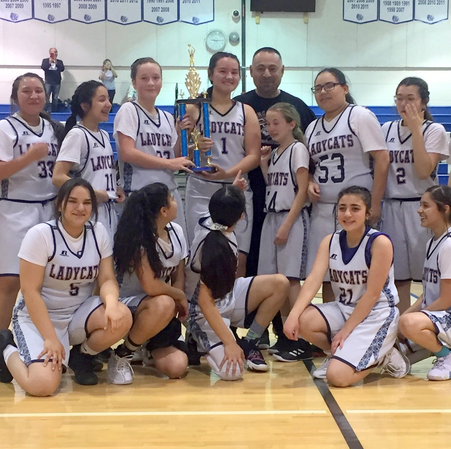 Red Mountain Middle School Lady 'Cats 8th finished unbeaten basketball season