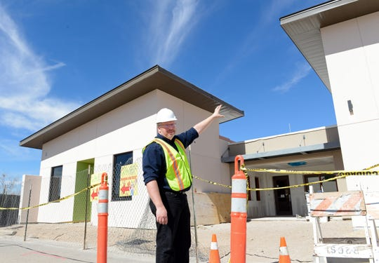 Clint Thacker, executive director of the Animal Services Center of the Mesilla Valley, points out features on a $2.5 million renovation of the facility on Monday, Feb. 18, 2019.  That work is not related to a GO bond initiative to build a new animal shelter.