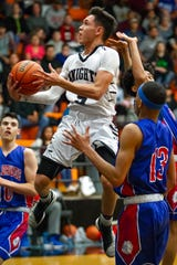 Oñate guard Ricky Lujan and the Knights play at Gadsden in District 3-5A play on Tuesday.