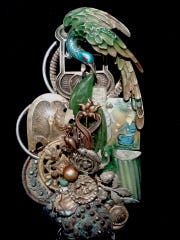 A jewelry piece by artist Lisa Carlson